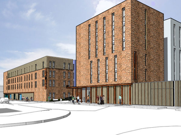 Student Accommodation, Kennedy Street, Glasgow - BHC Structural Steelwork Contractor