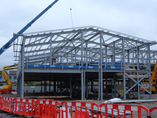 Millburn Academy, Inverness - BHC Structural Steelwork Contractor