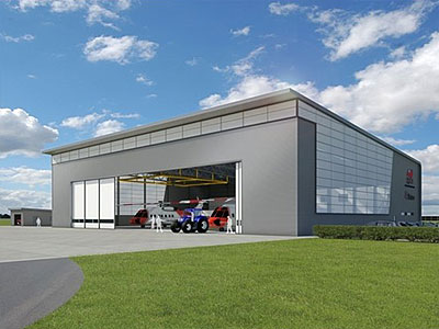 Search and Rescue Aircraft Hangar - BHC Structural Steelwork Contractor