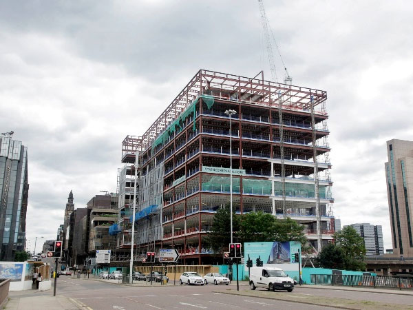 St Vincent Plaza, Glasgow - BHC Structural Steelwork Contractor
