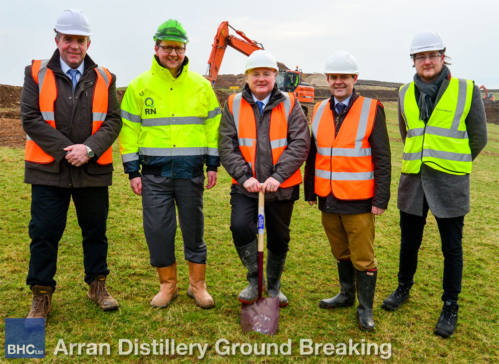 Arran Distillery Ground Breaking