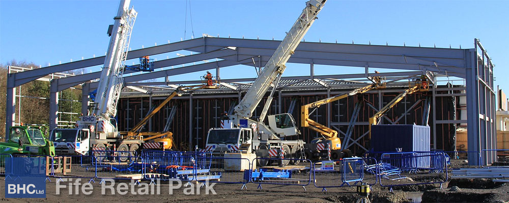 Fife Retail Park - BHC Structural Steelwork Contractor