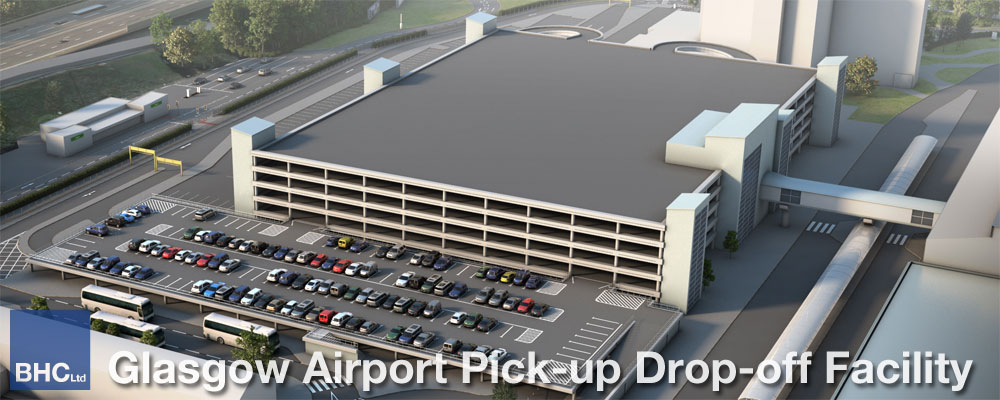 Glasgow Airport Pick-up Drop-off Car Park - BHC Structural Steelwork Contractor
