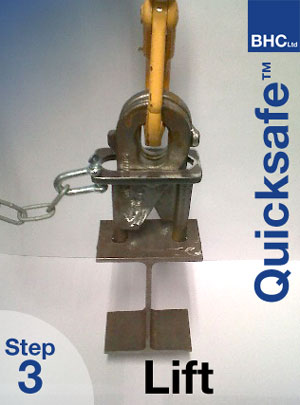 BHC Quicksafe Patented Steelwork Lifting Bracket - Lift