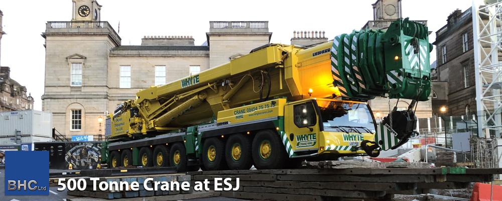 500 Tonne Crane at ESJ