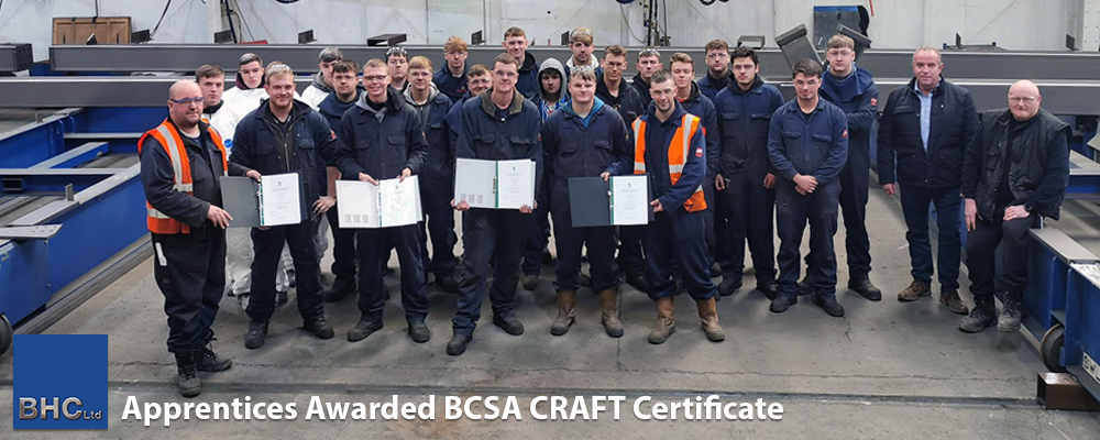 Apprentices Awarded BCSA CRAFT Certificate