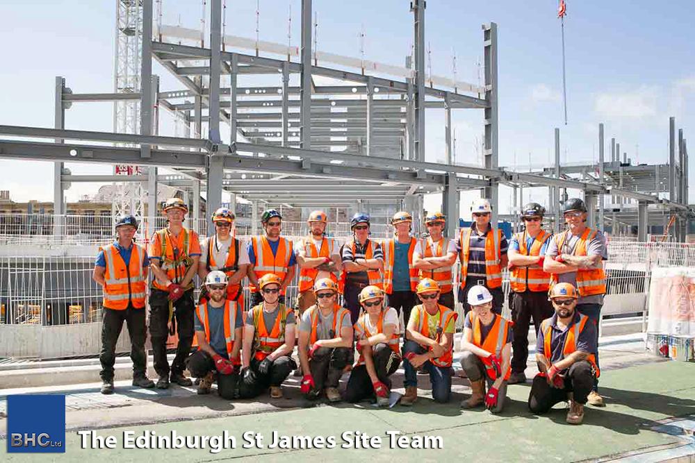 The Edinburgh St James Site Team